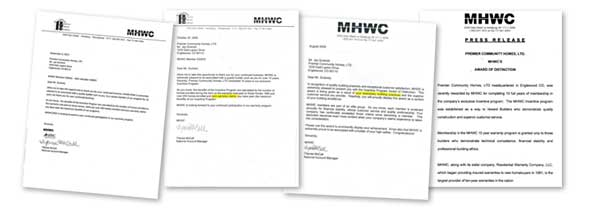 MHWC Letters