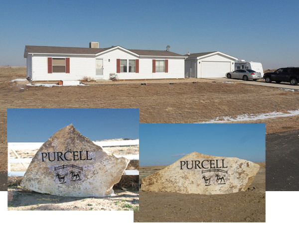 Purcell Townsite Estates Entrance and Home