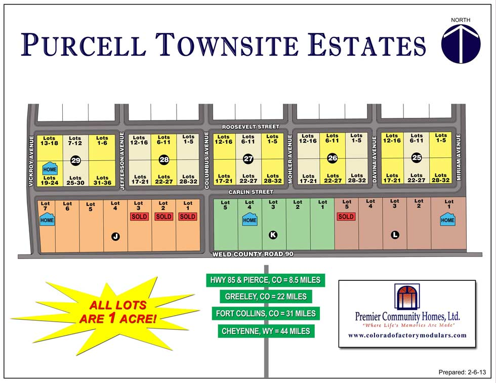 Purcell Townsite Lot Layout